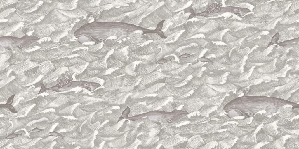 Grey Melville Wallpaper Baby Bottega