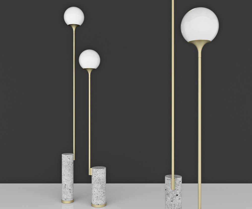 Ion Floor Lamps by Caroline Ficker (Brasil)