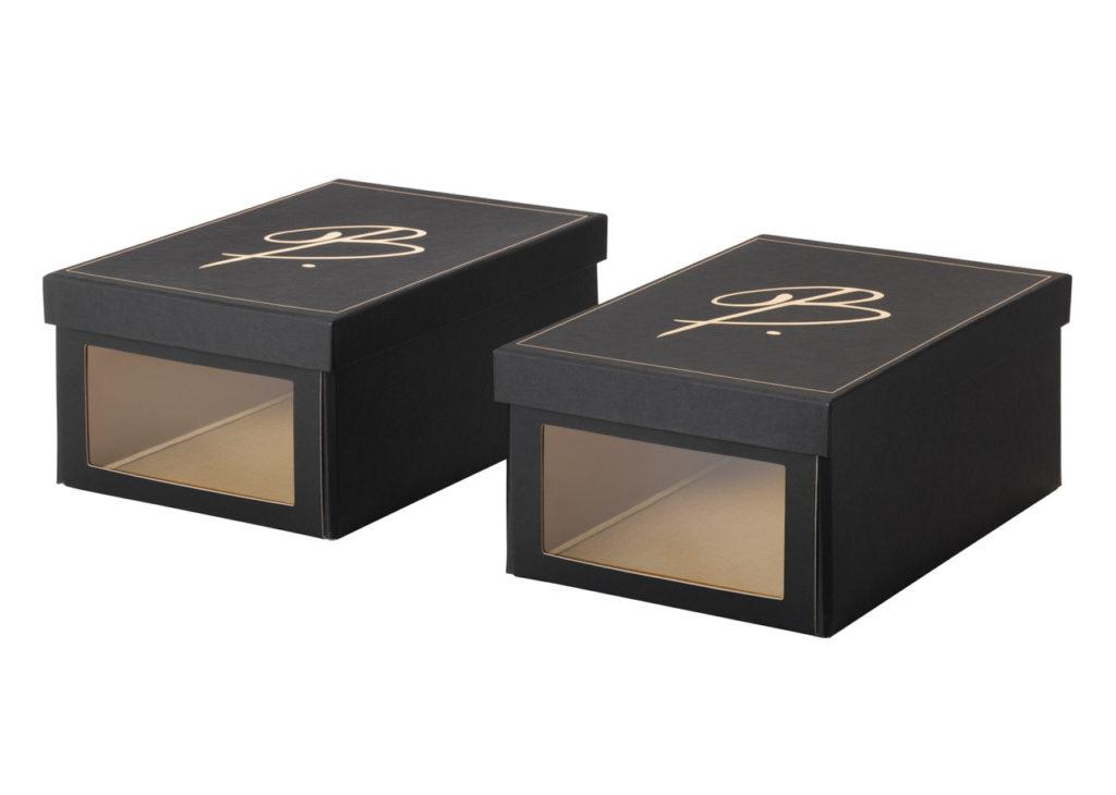 caixa p/sapatos, 12,99€/2uds