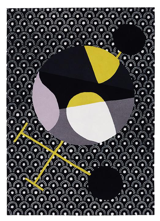 Tapete (nº8) da Maison Dada, da coleção Japanese Abstractions que inclui 9 peças, todas desenhadas em torno do criatividade da artista dadaísta e feminista Sophie Taeuber Arp, que imaginou uma viagem ao Japão, www.maisondada.com