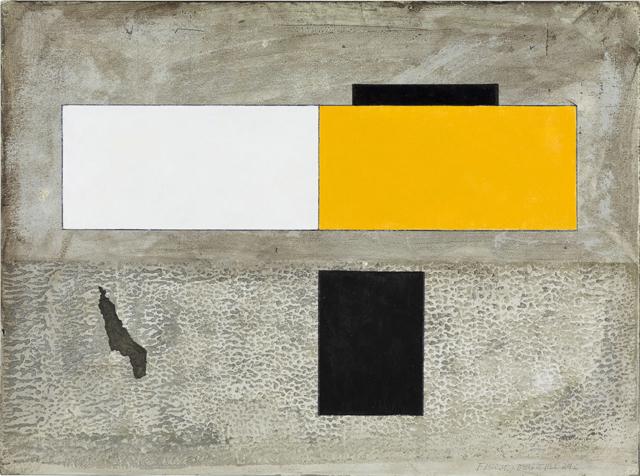 'Untitled' (2016), obra do artista plástico Fernando Marques de Oliveira, acrílico sobre cartão, 31cm x 23cm, 1200€, geometriadodesejo@gmail.com
