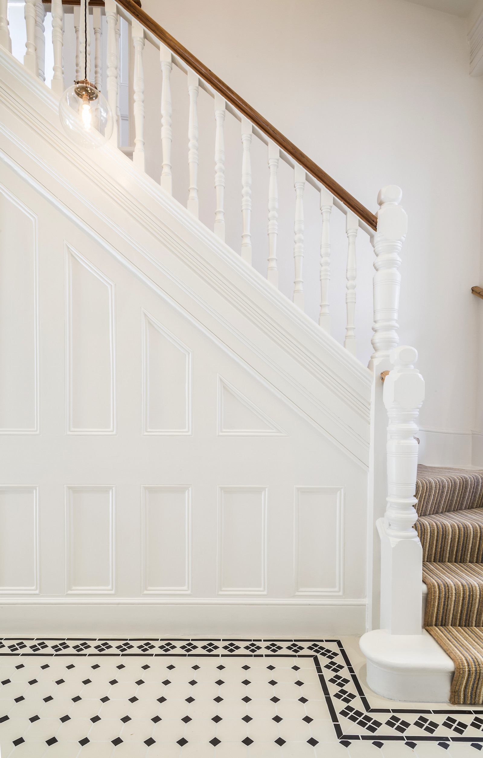 AFTER - LLI Design - Victorian Townhouse Highgate - entrance hallway panelling