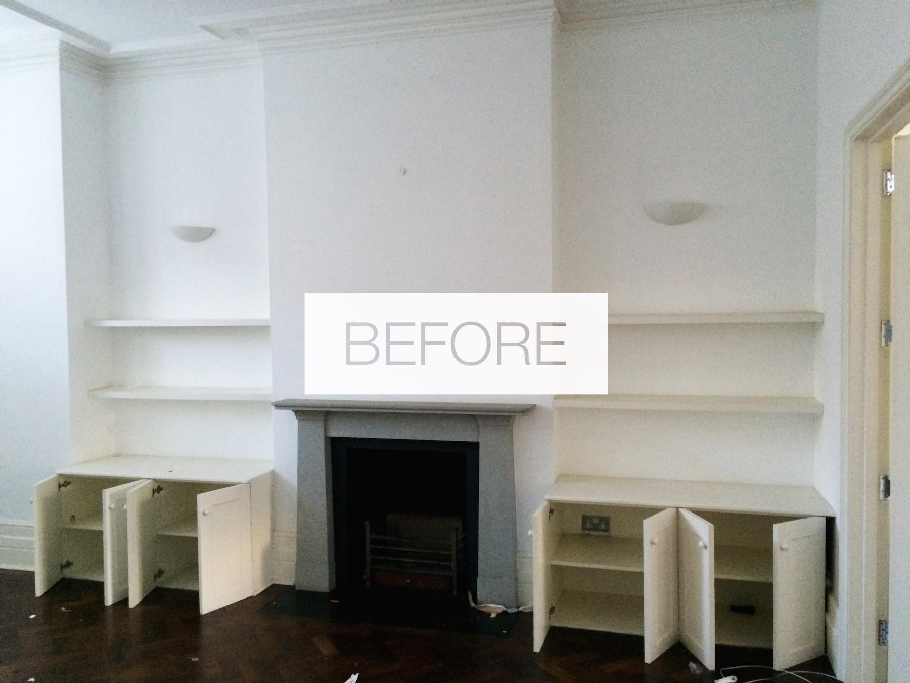 Sala de estar antes da remodelação