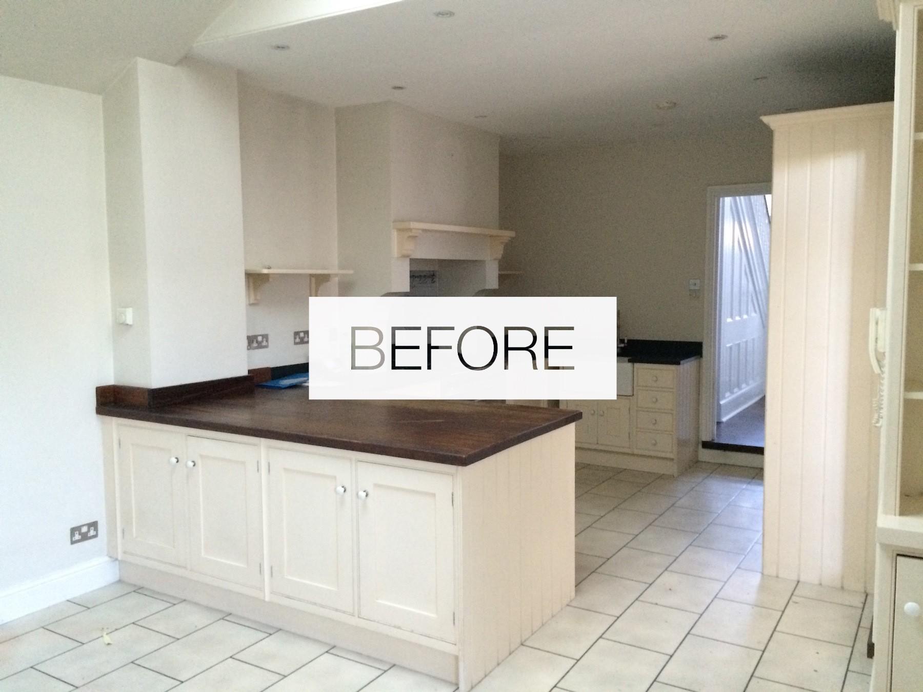 Cozinha antes da remodelação