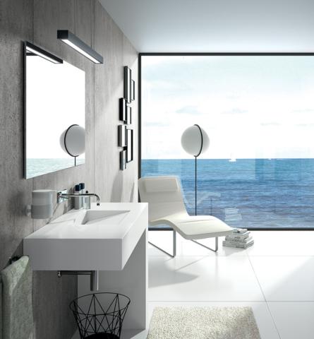 Da Cosentino lavatório Balance, em Silestone Blanco Zeus com três acabamentos disponíveis, em cosentino.com/pt