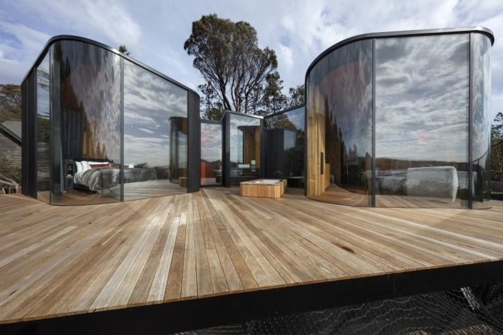 Freycinet Lodge Coastal Pavilions por Liminal Architecture Photo credit: Dianna Snape