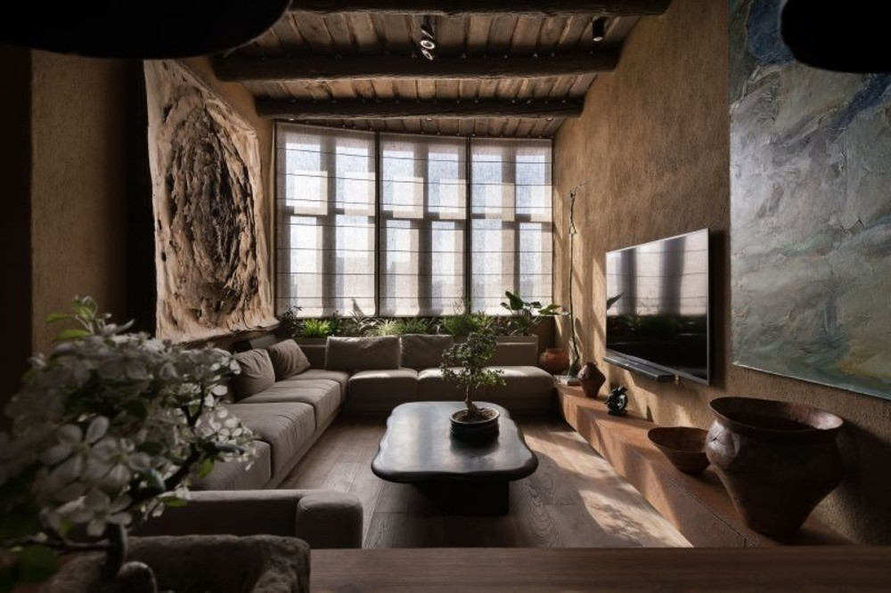 Wabi Sabi Apartment by Sergey Makhno Architects Foto: Andrey Avdeenko